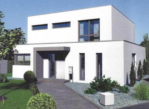 Großes modernes Ein- oder Zweifamilienhaus mit ca. 1.000 m² Baugrundstück! Kurze Bauzeit! Massivhaus