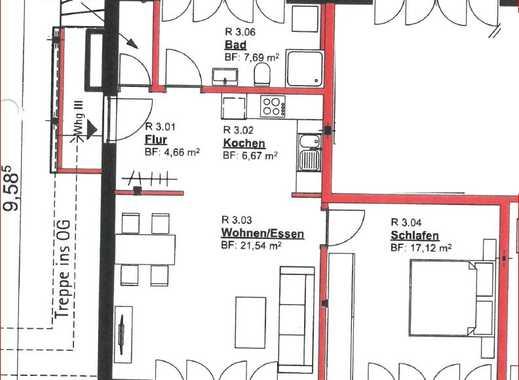 Moderne 2 ZKB mit Terrasse, Tiefgarage u. Aufzug im Niedrig-Energiehaus