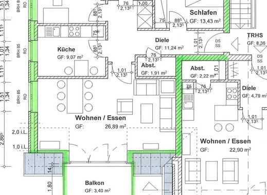3-Zimmer Neubauwohnung mit Balkon