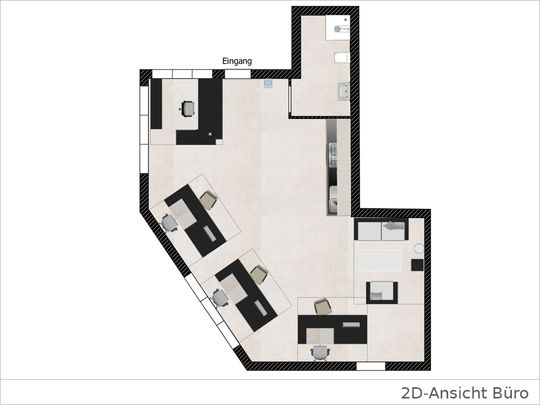 2D Grundriss Büro