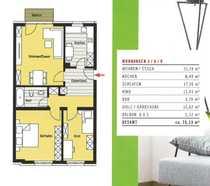 Ruhige zentrale Innenstadtlage 3-Zimmer-Wohnung im