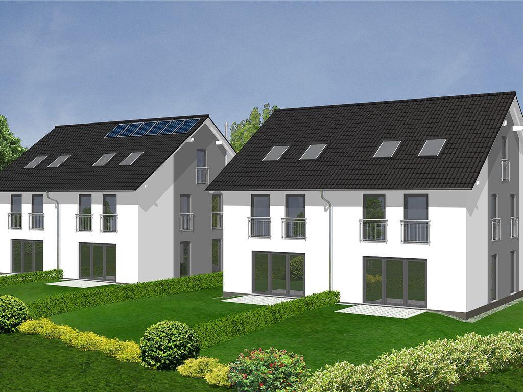 4 moderne Doppelhaushälften mit Satteldach