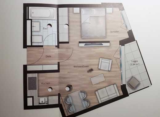 Erstbezug: schöne 2-Zimmer-Wohnung mit Einbauküche und Balkon in Aubing, München