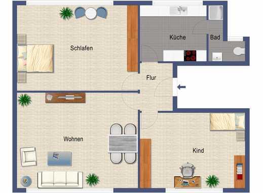 Bei Anmietung bis zum 01.09.18 1. Monat mietfrei wohnen - 3-ZW - frisch renoviert!