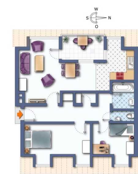 Helle und gepflegte 3-Zimmer Dachterrassenwohnung im 4. OG eines Mehrfamilienhauses in München-Laim in Laim (München)