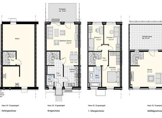 Schöner wohnen* Modernes Dachterrassenhaus mit Vollkeller in bester Lage!