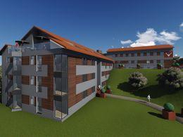 Projektiertes Hotel Ansicht