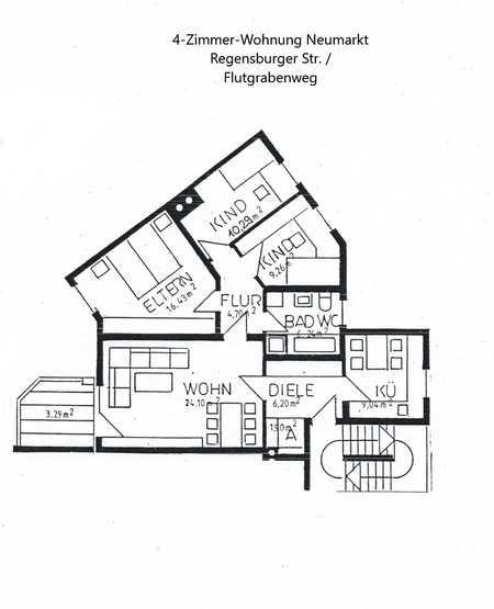 Modernisierte 4-Raum-Wohnung mit Balkon in Neumarkt in der Oberpfalz in Neumarkt in der Oberpfalz (Neumarkt in der Oberpfalz)