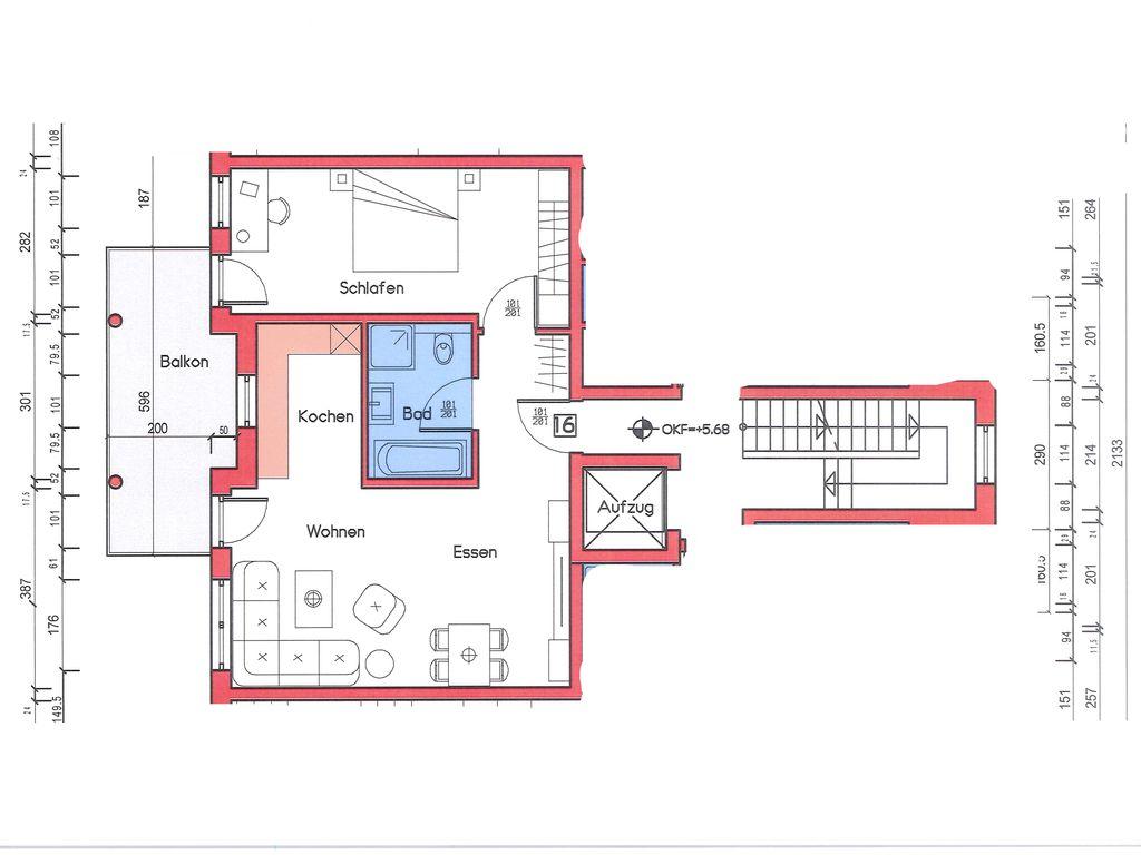 Haus B, ETW 16, 2. OG Mitte