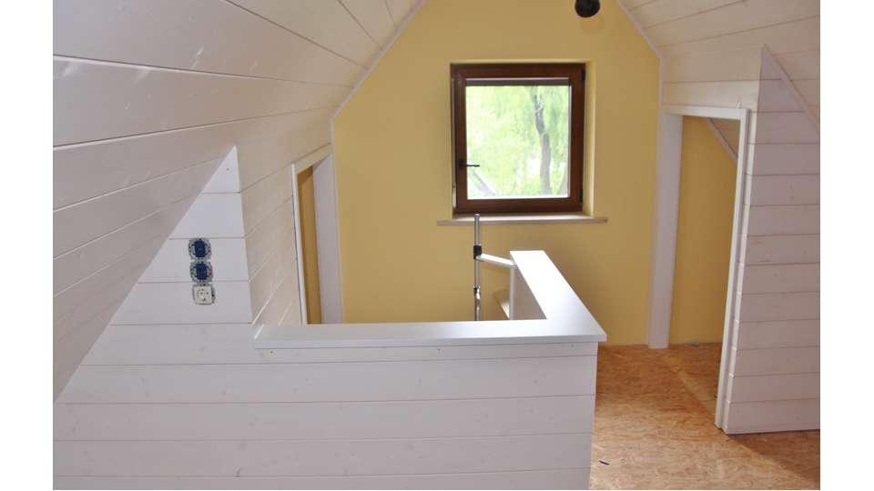 Schlafzimmer im Dachspitz