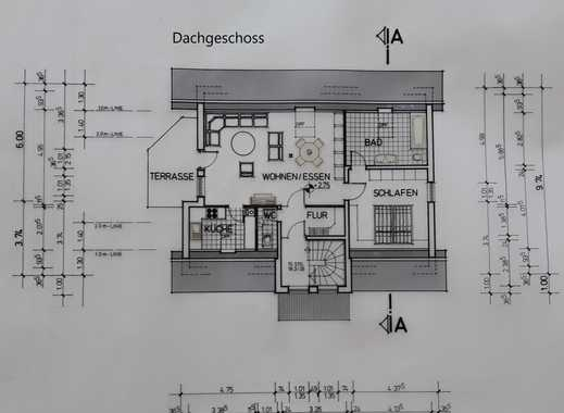 Renovierte 2-Zi-Dachgeschosswohnung mit Balkon und Einbauküche im 3-Familien-Wohnhaus in Alzey