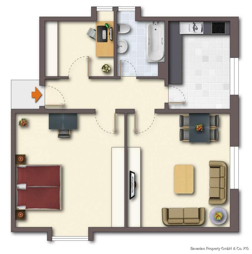 2,5-Zimmer-Dachgeschosswohnung in Straubing-Ost in