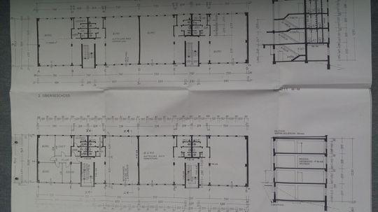 Grundriss einer Etage