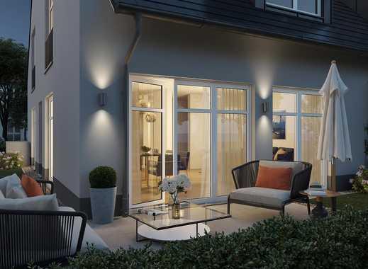 Moderne Doppelhaushälfte mit Gartenterrasse, ausgebautem Dachgeschoss und Hobbyraum in Top-Lage!