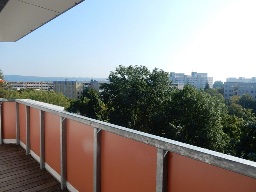 Ein Blick vom Balkon