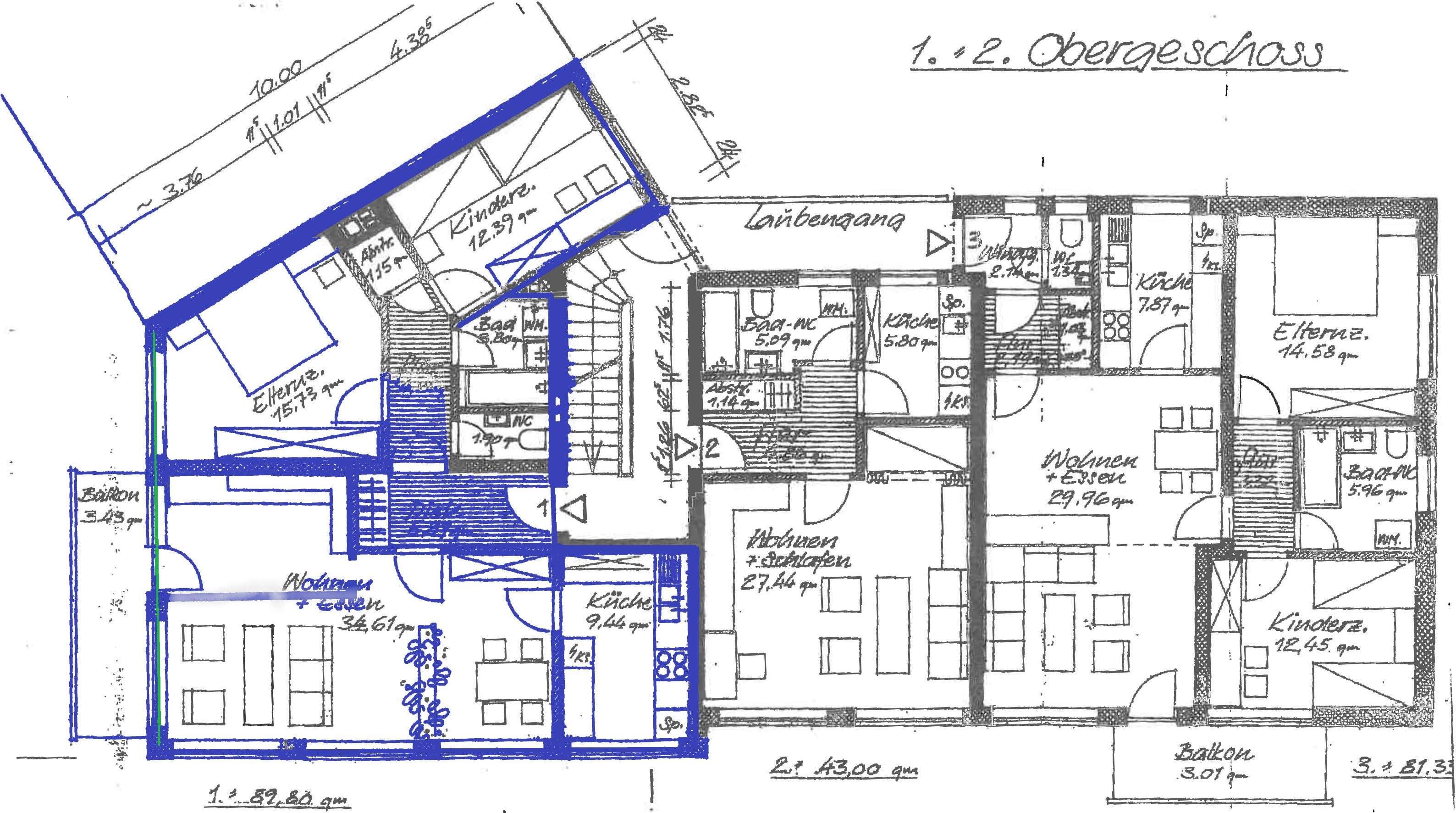 Tolle 2-3 Zimmer-Wohnung im Ortszentrum in
