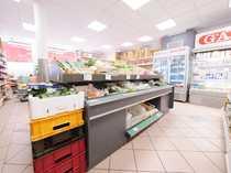 Gut frequentierter Supermarkt in Lauflage