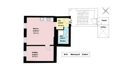 *trendiges Schlachthofviertel*sanierte 1-Zimmerwohnung mit Wohnküche*möbliert*EBK*Keller* in Ludwigsvorstadt-Isarvorstadt (München)