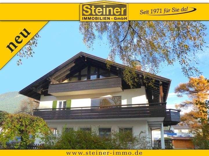 4-Zimmer-Wohnung ca.155 m², Freisitz, Balkon, 1 .Stock, Ost-Süd-West-Lage, Tiefgaragenplatz a. W. in Garmisch-Partenkirchen