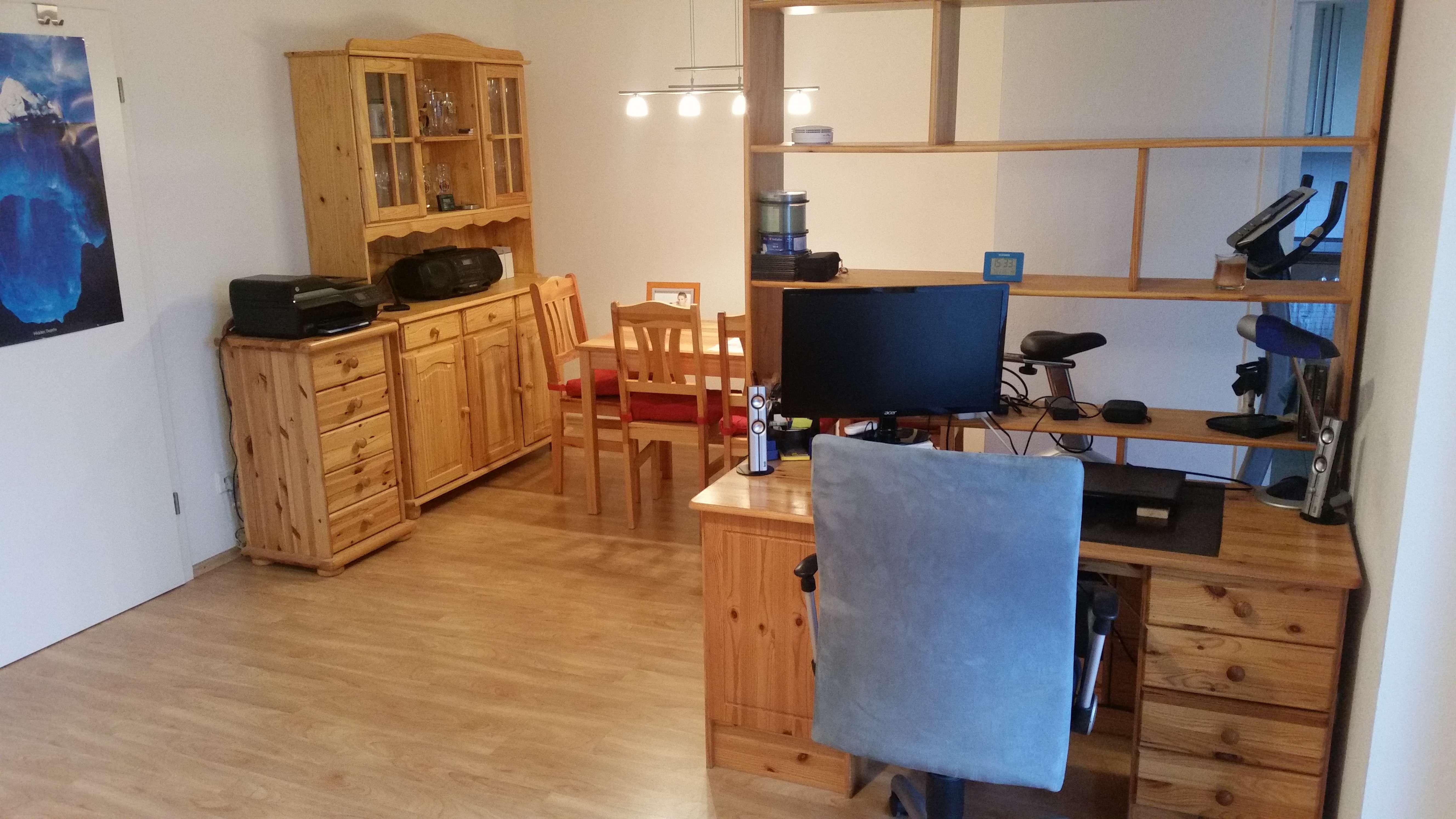 Möblierte 2-Zimmer-Wohnung mit großem Balkon. Nähe S-8 (Flughafen) in Ismaning