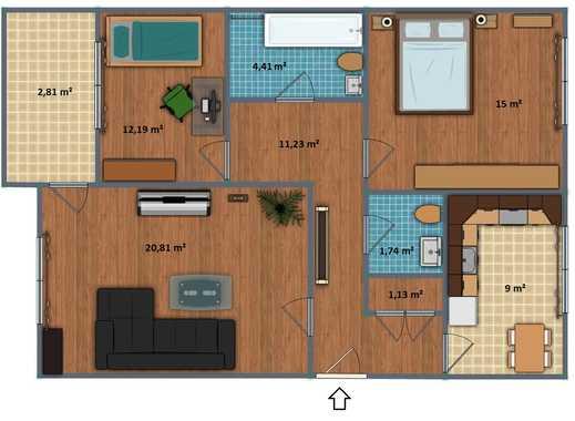 Gut geschnittene 3-Zimmerwohnung mit Balkon und Pkw-Stellplatz in Porz-Zentrum!