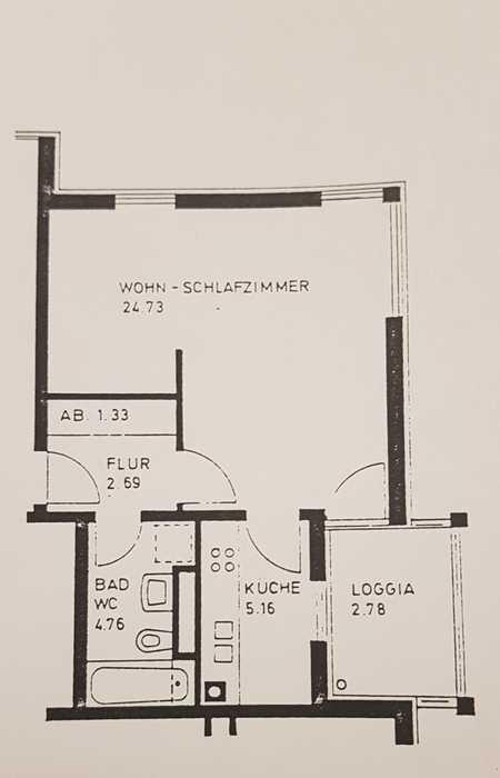 Modernisierte 1,5-Raum-Wohnung mit Balkon und EBK in München-Perlach in Perlach (München)