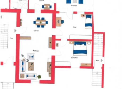 Modernisierte 3-Zimmer-Erdgeschosswohnung mit Balkon in Wallerfangen