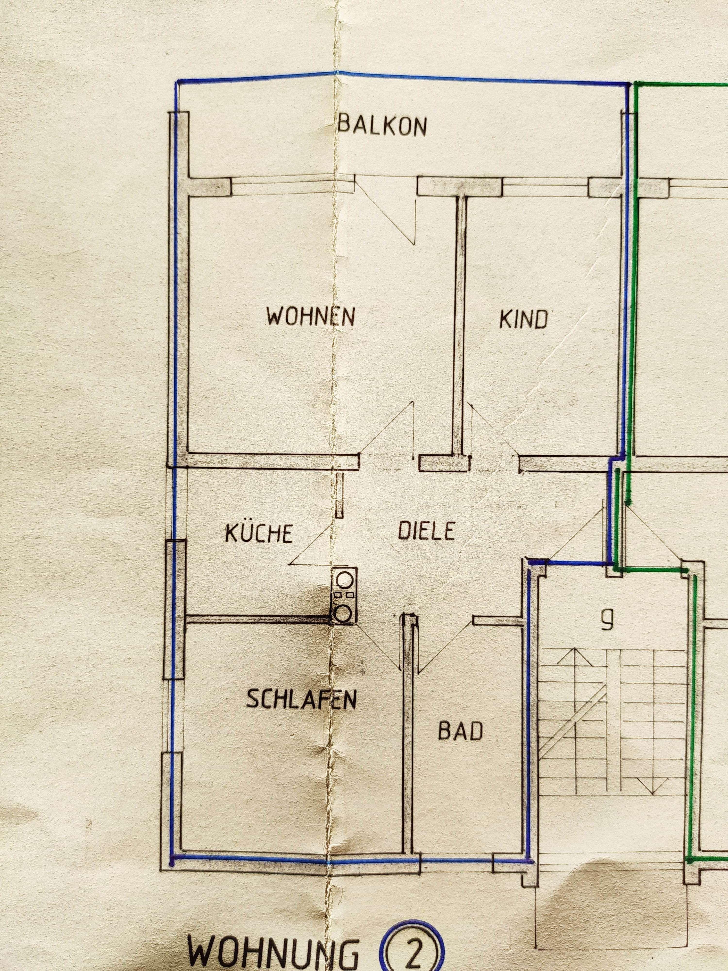 Gepflegte 3-Zimmer-Wohnung mit Balkon in Pliening in Pliening