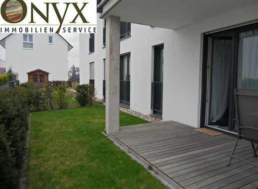 Modern, barrierefrei im Erdgeschoss mit überdachter Terrasse im Grünen