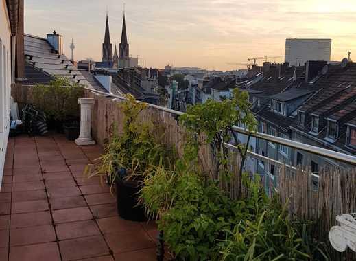 Gemütliche, sehr gepflegte 2,5-Zimmer-Dachterrassenwohnung, Düsseldorf-Innenstadt