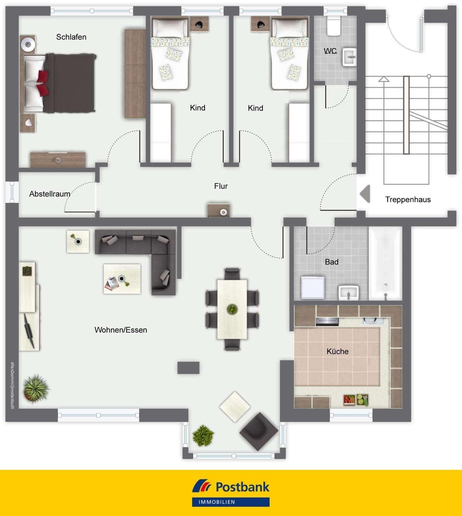 Helle, gepflegte 4-Zimmer-Wohnung in Plattling zu vermieten