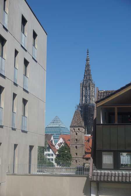 Münsterblick aus dem zentralen Neubau direkt an der Donau in Neu-Ulm (Neu-Ulm)