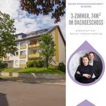 Bonn 3-Zimmer im Dachgeschoss WBS