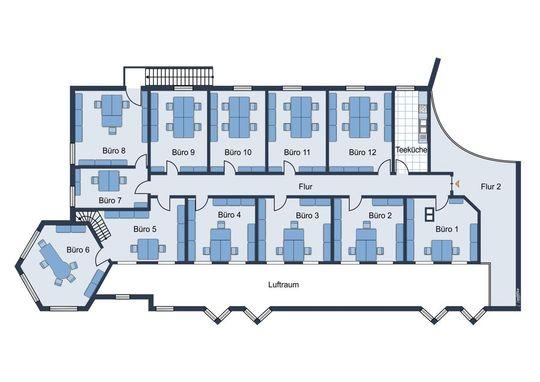 Grundriss Büroräume