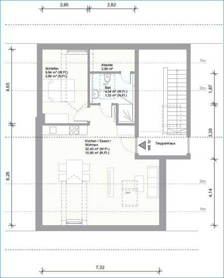 Schneiderhof - Moderne 1,5-Zimmer Dachgeschoßwohnung in Taufkirchen - Neubau bezugsfertig 1.09.2020 in Taufkirchen (München)