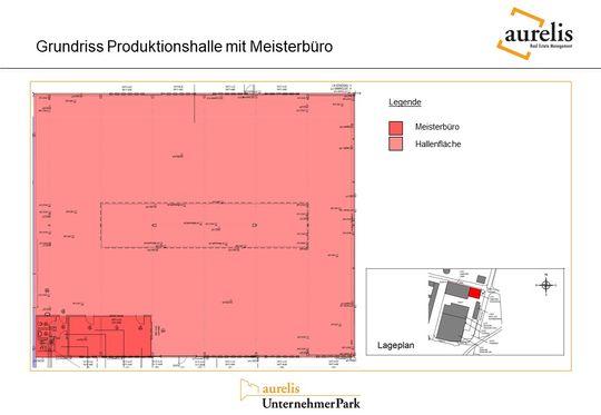 Grundriss Produktionshalle mit