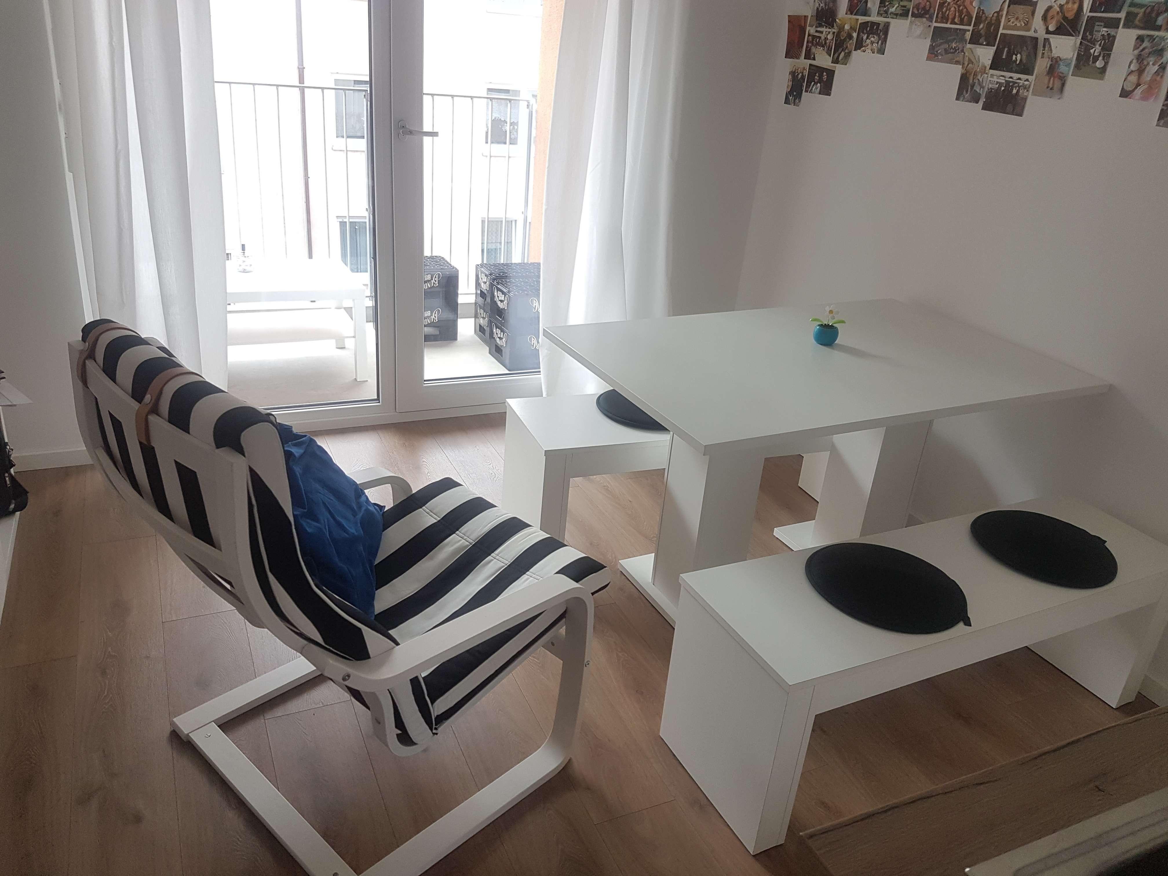 Exklusive 1,5-Zimmer-Wohnung mit Balkon und Einbauküche in Nürnberg in