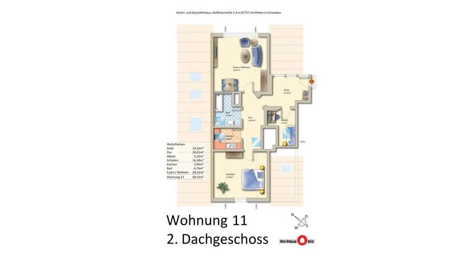 Wohnung 11 im 2. Dachgeschoss