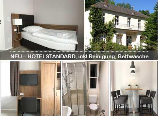 NEU! Wie Hotelzimmer+Küche ab 420,- EUR,Wäsche, Reinigung inkl.|Nähe Messe, Flughafen|W-LAN|