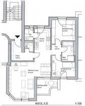 Lichtdurchflutete und ruhige 3-Zimmer-Dachterrassenwohnung und