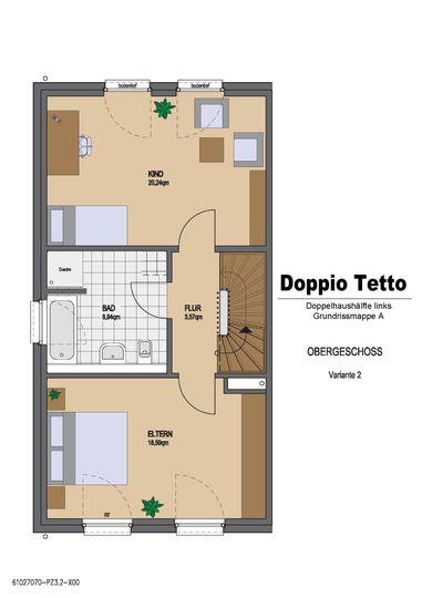 Grundriss Beispiel Doppio Tett