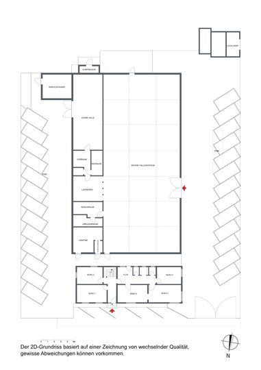 Grundriss Lager+Büro 2D