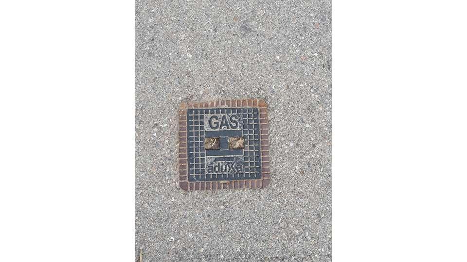 Umgebungsbebauung mit Gas