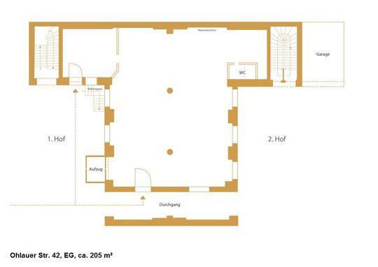 Grundriss EG, ca. 205 m²