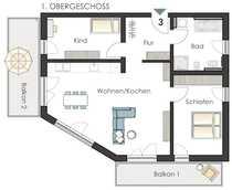 Traumhafte Wohnung mit 2 Balkonen