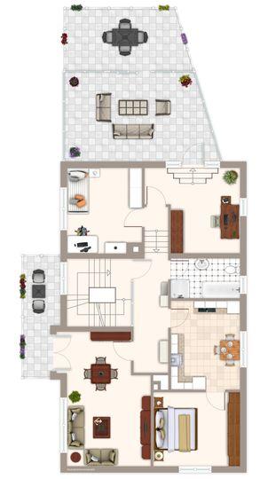 Grundriss 1. Obergeschoss Zwei
