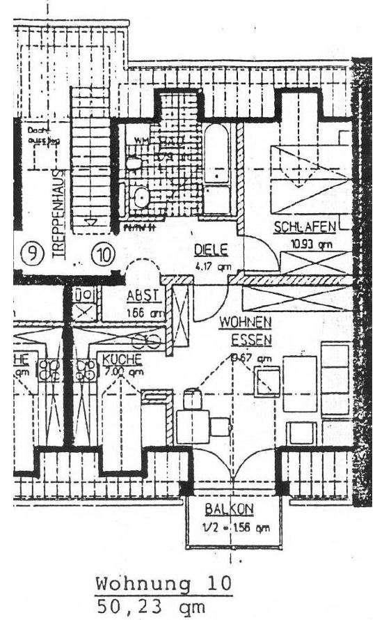 Gemütliche 3 Zimmer DG Wohnung im Mühldorfer Norden in Mühldorf am Inn