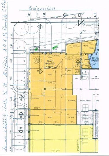 Grundriss A.0.1. 520 m²