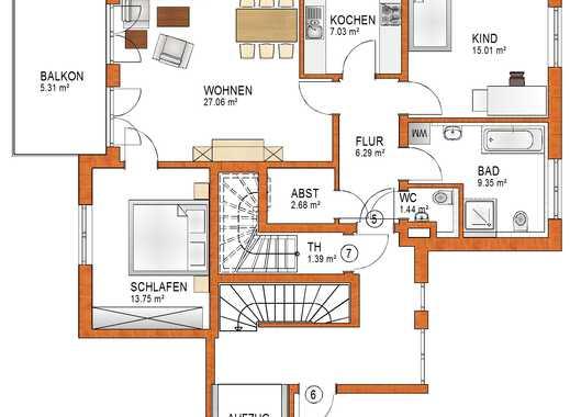 Schöne 3-ZKB Wohnung im 2. OG mit Balkon in Königsbrunn - EH 55 - schlüsselfertig