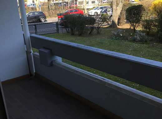 Erstbezug nach Sanierung mit Balkon: exklusive 1-Zimmer-Hochparterre-Wohnung in Mainz-Kostheim
